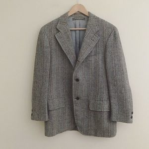 Vtg Brooks Brothers 346 Herringbone Tweed Blazer